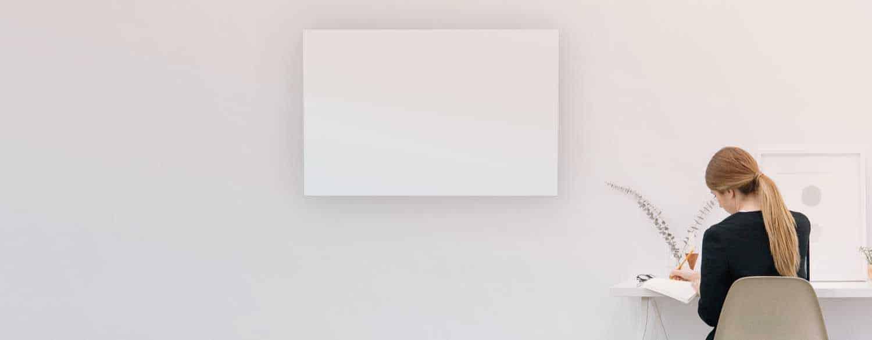 Select XL white infrared panel heater Herschel UK website