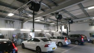 Snows Motor Group workshop heating