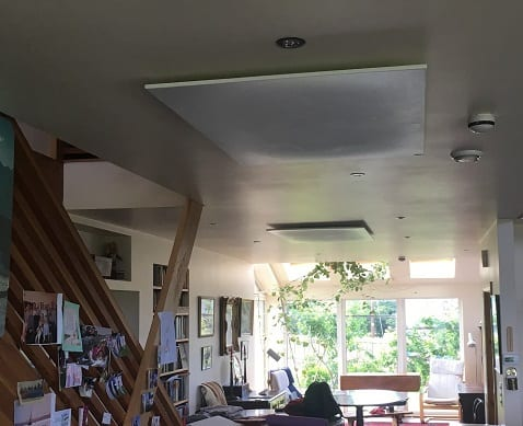Ceiling mounted Herschel panels