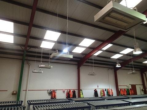 Heating warehouses with Herschel P4 infrared heaters
