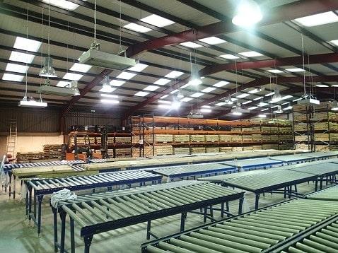 warehouse heated by Herschel infrared